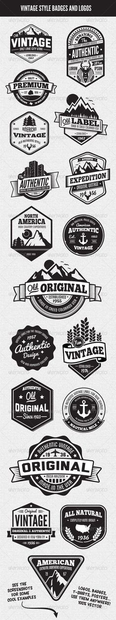 Vintage Style Badges and Logos Vol 3: