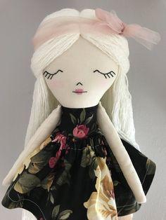 Rag Doll Cloth Doll Fabric Doll Fabric Dolls Rag Dolls Dolls Handmade Cloth Dolls Cloth Dolls Handmade Heirloom Dolls Textile Doll by littlewildwooddolls on Etsy