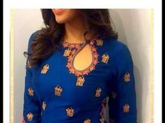 Kurta neck designs are one of the most sought after for a stylish garment for female. Here are the 25 latest and new kurti neck design patterns with images. Salwar Designs, Salwar Suit Neck Designs, Kurta Neck Design, Kurta Designs Women, Neck Design For Kurtis, Neck Patterns For Kurtis, Salwar Neck Patterns, Designer Kurtis Patterns, Latest Kurti Designs