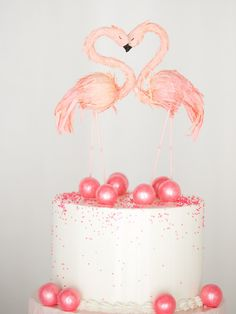 Pink Flamingo Gum Ball Wedding / Party Cake!
