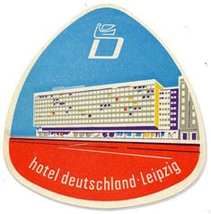 Hotel deutschland, Leipzig, Germany luggage label
