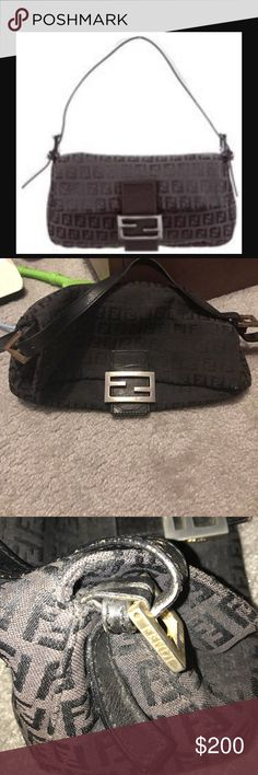 Authentic Fendi  Bag Black fendi bag.. my first designer bag..overall good condition.. needs a new home Fendi Bags Shoulder Bags