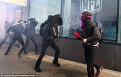 Note to anarchists: Don't vandalize the Nike store in protest of capitalism while WEARING your Nike shoes!