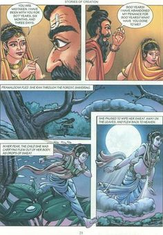 Manash (Subhaditya Edusoft): Stories Of Creation: According to Brahma Purana in Comic Form Comics Pdf, Download Comics, Indian Literature, Literature Books, Language And Literature, Online Greeting Cards, Book Categories, Stories For Kids, Gods And Goddesses