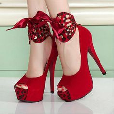 Cheap high heel shoes, Buy Quality heel shoes directly from China sexy women shoes Suppliers: Sexy Women's Shoe Prix Summer style Thin Heel shoes,Peep Toe high heels shoes Leopard bowtie shoes sandals for women Red High Heels, Platform High Heels, High Heel Pumps, Pumps Heels, Stiletto Heels, Red Platform, Red Pumps, Red Stilettos, Lace Heels