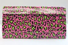 Duct Tape Wallet (Clutch) - Pink Leopard, $18.  We are also on Etsy at:  www.junorduck.etsy.com.