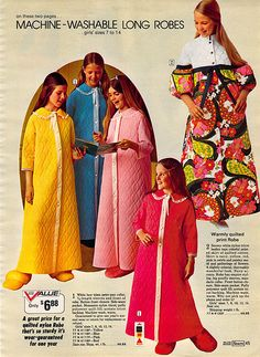 1972 Sears Wish Book...quilted polyester bathrobes that you never wanted anyone to light a match around and super fluffy slippers