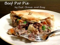 Use your leftover roast fixins to make a delicous beef pot pie. Prep once, eat all week.
