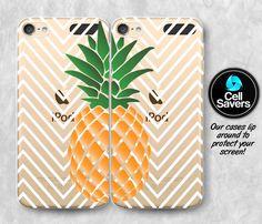 Pineapple Clear iPod 5 Pair Case iPod 6 Pair Case iPod 5th Generation iPod 6th Generation Rubber Case Gen Clear Case Chevron Pineapple Cute