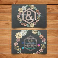 Agnes & Dora Printable Business Cards by LeH5Designs on Etsy