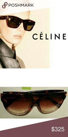 Céline Wayfarer Sunglasses Tortoise Wayfarer styled sunglasses with Deep brown to translucent gradient lenses. Celine Accessories Sunglasses