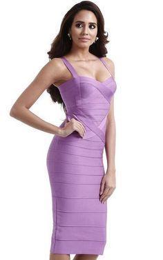 lavender midi bandage dress - side view on model Daytime Dresses, Casual Dresses, Fashion Dresses, Purple Bandage Dress, Bandage Dresses, Chic Outfits, Spring Outfits, Spring Bridesmaid Dresses, Conservative Fashion