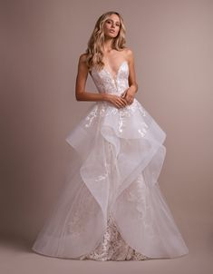 online shopping for Hayley Paige Elke Strapless Lace Wedding Dress Overskirt from top store. See new offer for Hayley Paige Elke Strapless Lace Wedding Dress Overskirt Hayley Paige Bridal, Blush By Hayley Paige, Strapless Lace Wedding Dress, Fit And Flare Wedding Dress, Hailey Page Wedding Dress, Bridal Gowns, Wedding Gowns, Blush Wedding Dresses, Wedding Ceremony