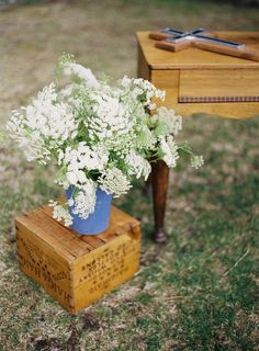 """I remember this """"weed"""" so well from childhood. Queen Anne's Lace seems to be making waves these days, and would look great at a May wedding, when they are abundant."""