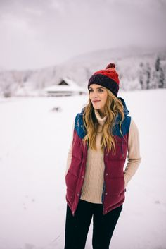 Gal Meets Glam Winter Wonderland - Patagonia Vest and Beanie d8d8aba66eba