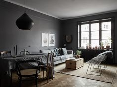 Barn & Willow: 7 Reasons to Consider Going for a Gray Interior, Gray Living Dining Room Colorful Interior Design, Gray Interior, Colorful Interiors, Interior Paint, Living Room Grey, Living Room Decor, Dining Room, Living Room Furniture Inspiration, Interior Inspiration