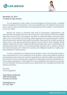 Personal Letter Of Recommendation For A Family Member
