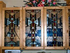 Stained Glass, Glass Kitchen Cabinets, Custom Glass, Glass, Custom Cabinets, Cabinet, Cabinet Doors, Doors, Home Decor
