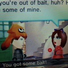 @milanangelica why am i taking your bait?  Sounds suspicious.  #streetpass  #mii #splatoon #3ds #nintendo #amiibo #customamiibo #art