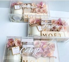 These will you be my bridesmaid boxes are to die for! I love creative people. These will you be my bridesmaid boxes are to die for! I love creative people. Bridesmaid Gift Boxes, Bridesmaid Proposal Gifts, Wedding Gifts For Bridesmaids, Bridesmaids And Groomsmen, Gifts For Wedding Party, Party Gifts, Wedding Favors, Wedding Invitations, Bridesmaid Gifts Will You Be My