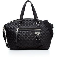 """""""L.A.M.B. Handbag, Quilted Audrey Zip Tote"""" found on Polyvore"""