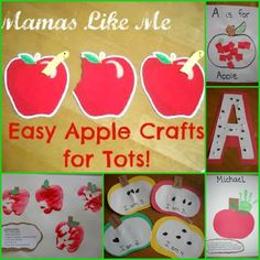 Moms Like Me: Easy Apple Crafts for Tots