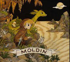 *Moldin - Fantasy-Hörspiel für Kinder* in drei Teilen.    Ab 6 Jahren    Moldin hat es nicht leicht als Zauberlehrling auf Ranoks Drachenfarm.  Ställe