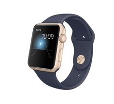 Gold and Navy Apple Sport Watch