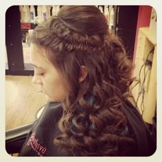 braids, fishtail, waves, wedding hair, long hair style, updo, prom,