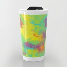 #travelmug #mugs #watercolor #yellow #summer #colorful