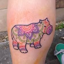 But with different patterns inside and black and white Hippo Tattoo, Feather Tattoos, Tatoos, Hippo Drawing, Diy Craft Journal, Birth Flower Tattoos, Tattoos For Women Half Sleeve, Ankle Tattoos, You're Beautiful