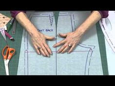 How to Make a Fish Eye Dart in Pants Back with Sure-Fit Designs - YouTube