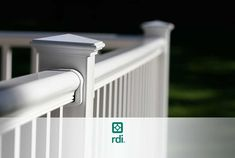 RDI's most popular railing. Strong and sturdy. Vinyl Deck Railing, Stair Railing Kits, Stair Kits, Wood Railing, Deck Railings, Building A Deck, Galvanized Metal, Installation Instructions, Building Materials