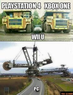 PS 4, WII U, XBOX One vs PC Gaming http://amzn.to/2ldYdqf