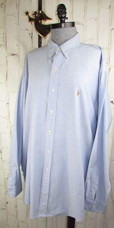 20846d5f1 Ralph Lauren POLO mens Dress Shirt XL fits XXL Blake Oxford Blue Button  Down #PoloRalphLauren #Blake