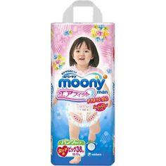 Moony Гащички Размер от 12-17кг (XL) 38 бр  за Момичета