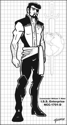 Dark Mirror Cmdr Riker Inks by stourangeau.deviantart.com on @deviantART