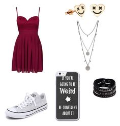 """""""Untitled #217"""" by geekgirl1010 ❤ liked on Polyvore featuring Elise Ryan, Converse, Vince Camuto and Replay"""