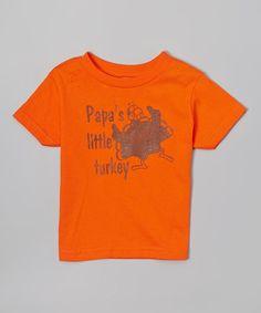 Orange 'Papa's Turkey' Tee - Infant Toddler & Kids