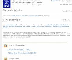 Carta de servicios BNE.