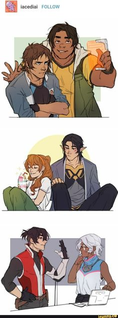 Allura is pidge. Shiro is allura. Pidge is Hunk. Lance is Keith. And Hunk is Lance. Holy shit.
