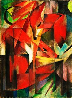 Franz Marc The Foxes (1913) Franz Marc was a German painter and printmaker, one of the key figures of the German Expressionist movement. He was a founding member of Der Blaue Reiter (The Blue Rider), a journal whose name later became synonymous with the circle of artists collaborating in it. In Paris, Marc frequented artistic circles and was able to meet artists, including the actress Sarah Bernhardt. He discovered a strong affinity for the work of Vincent van Gogh.