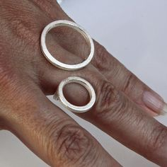 "Contemporary ring "" 2O "" in sterling silver"
