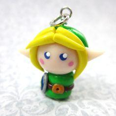 Legend of Zelda Enlace chibi-collar, correa del teléfono celular, del enchufe del polvo