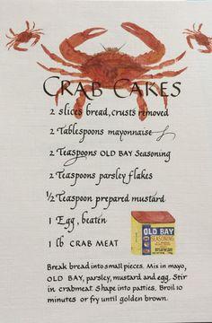 Crab Cake Recipes, Fish Recipes, Seafood Recipes, Appetizer Recipes, Cooking Recipes, Appetizers, Chicken Sauce Recipes, Seafood Dinner, Fish And Seafood