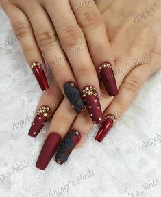 Acrylic Nail Designs Ideas are so perfect for fall! Hope they can inspire you and read the article to get the gallery.Newest Acrylic Nail Designs Ideas are so perfect for fall! Hope they can inspire you and read the article to get the gallery. Nail Art Designs, Acrylic Nail Designs, Gorgeous Nails, Pretty Nails, Amazing Nails, Burgundy Nails, Hot Nails, Nagel Gel, Beautiful Nail Designs