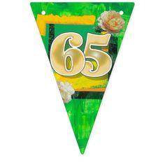 65th birthday bunting banner
