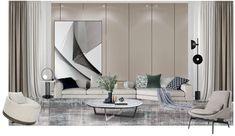 • THE_K 울산, 우리집도 싱그럽게 플랜테리어 해요~❤️ : 네이버 블로그 Mood Board Interior, Interior Design Boards, Modern Interior Design, Furniture Layout, Furniture Design, Lobby Design, Living Room Tv, Reception Rooms, Living Room Designs