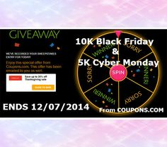 Wedding Sweepstakes 10K And 5K Black Friday Cyber Monday Ends December 7th 2014