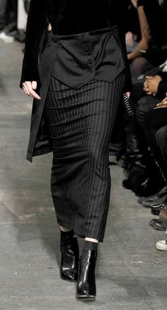 Suit recon inspiration from Alexander Wang FW2010 inspired match with mens pinstripe suits
